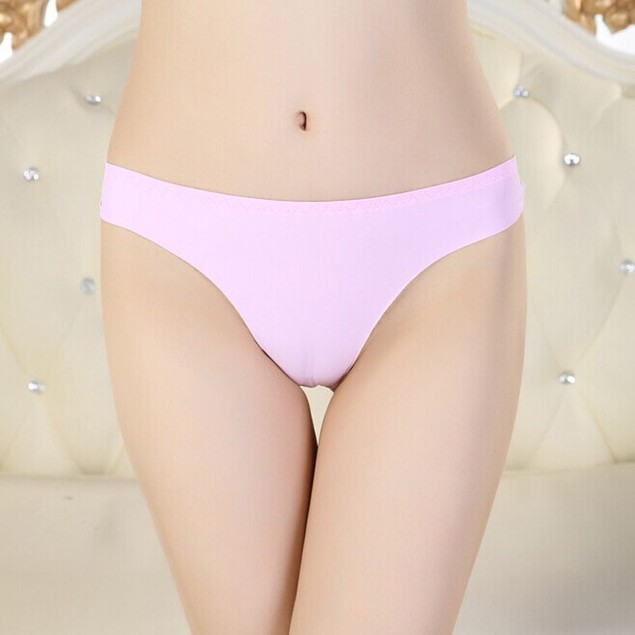 Women Invisible Underwear Thong Cotton Spandex Gas Seamless Crotch
