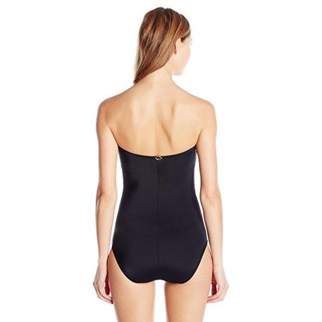 Jantzen Women's Bella Donna Bandeau One Piece Swimsuit, Black, SIZE 6
