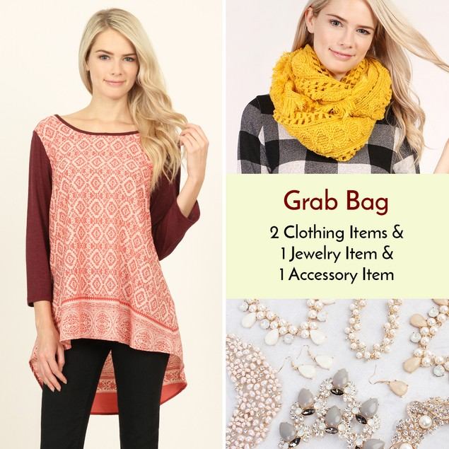 Clothing, Jewelry & Accessory Grab Bag!