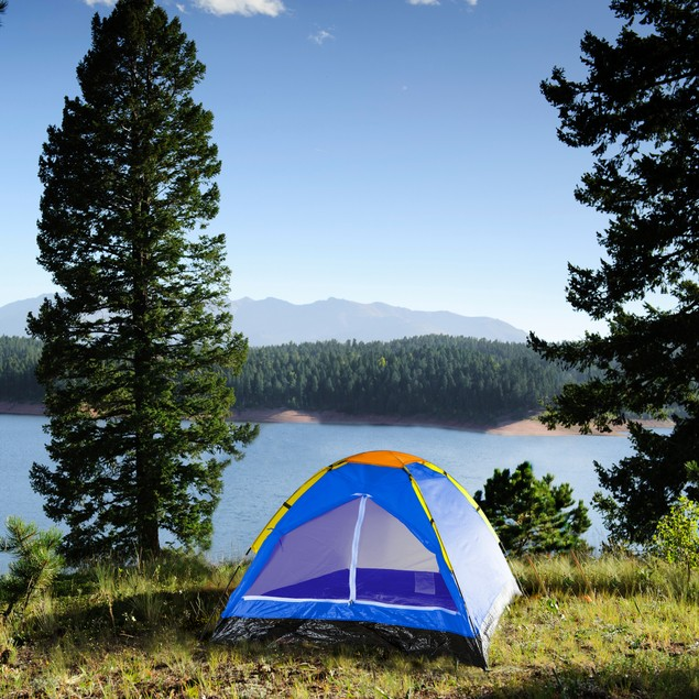 Happy Camper Two Person Tent by Wakeman Outdoors - Bold Blue