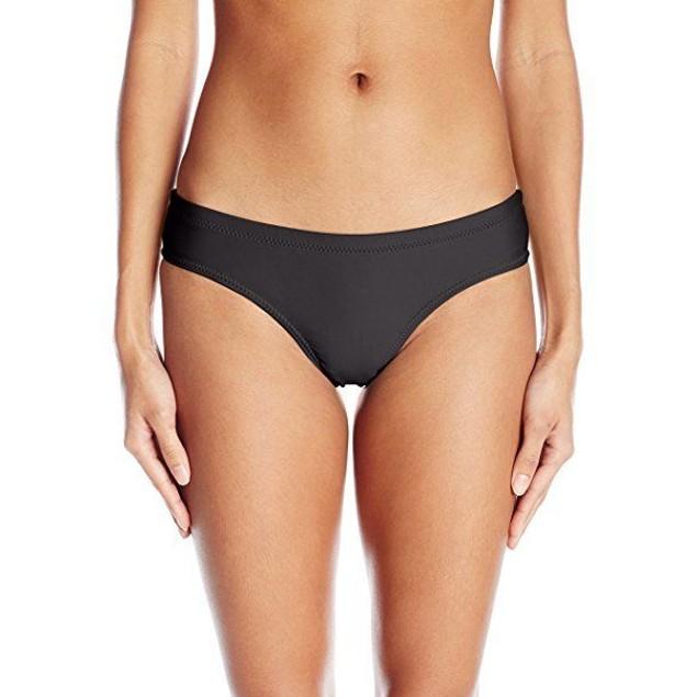 Volcom Women's Simply Solid Cheeky Swimsuit Bikini Bottom, Black, SZ L