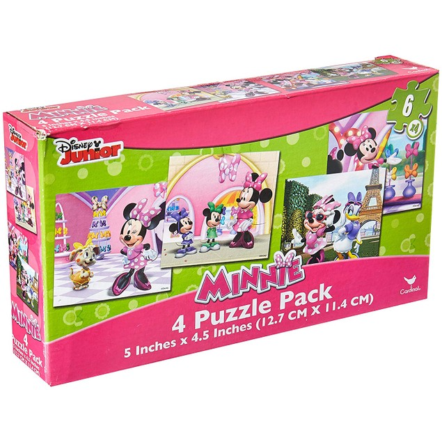 Disney Minnie Mouse (Set of 4 Different Puzzles)