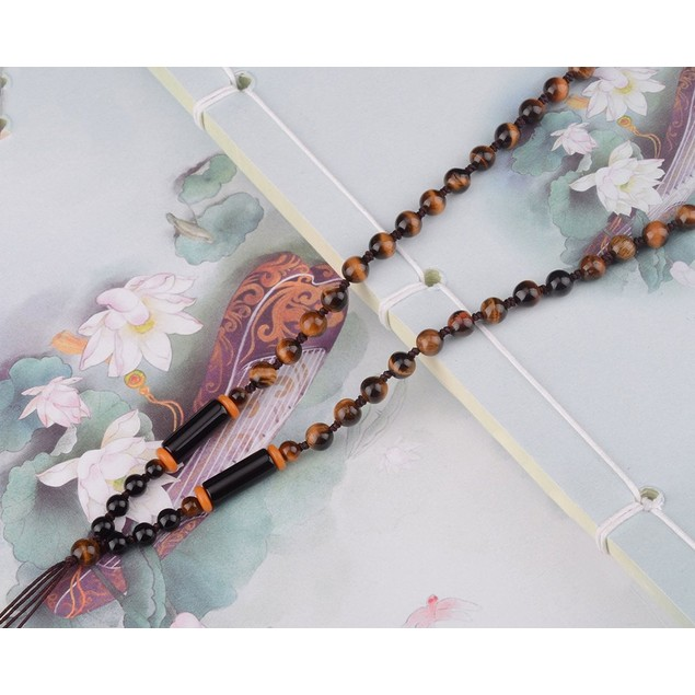 Novadab Micro Wooden Beaded Garland Necklace