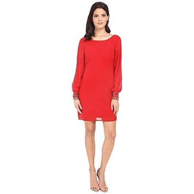 Brigitte Bailey Women's Gem Wrist Dress Red Dress LG