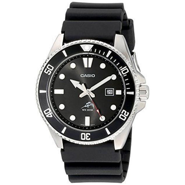 Casio Men's Watch Stainless Steel Case Quartz Duro Black
