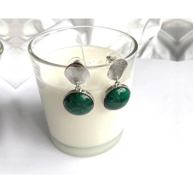 Novadab Tortorize Bead studded Solitary Hanging Earrings