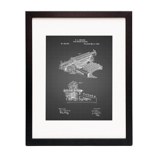 Typewriter Patent Poster