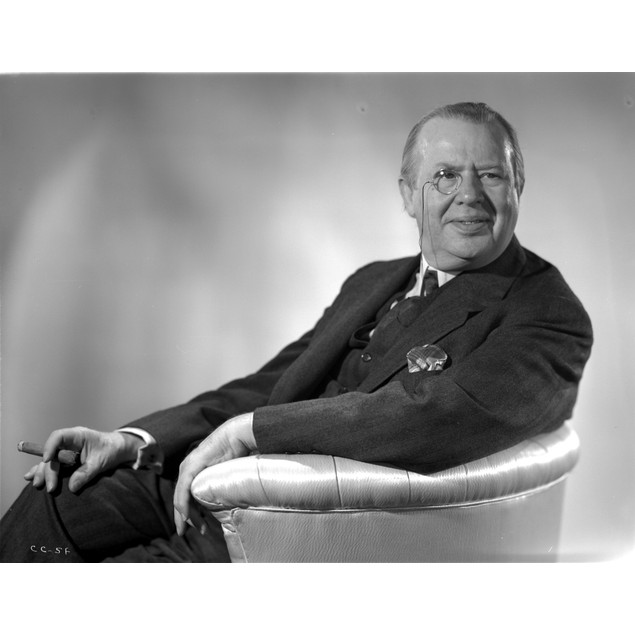 A portrait of Charles Coburn wearing a monocle Poster