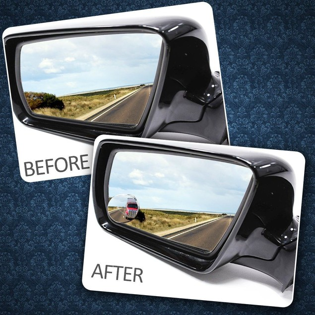 Zone Tech 4x Rotatable Blind Spot Exterior Car Mirrors Stick On Thin