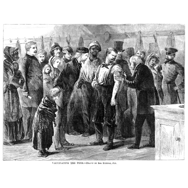 Vaccination, 1872. /Na Board Of Health Physician Vaccinating The Poor Again
