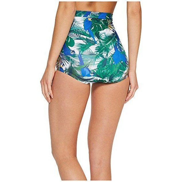 Unique Vintage Women's Monroe High Waist Ruched Bikini Bottom SZ M