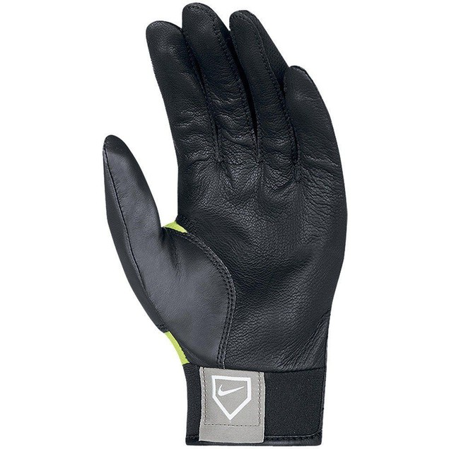 Nike Women's Imara II Fast Pitch Batting Gloves Small Black Volt