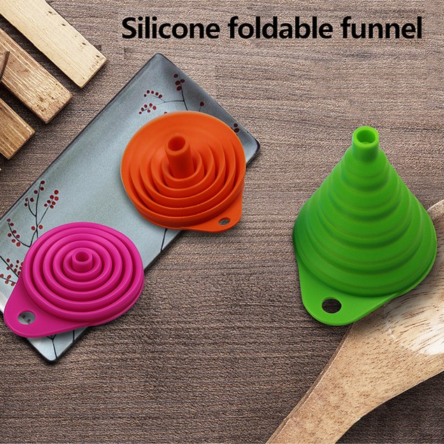 Silicone Foldable Funnel, BPA-free - 6 Colors