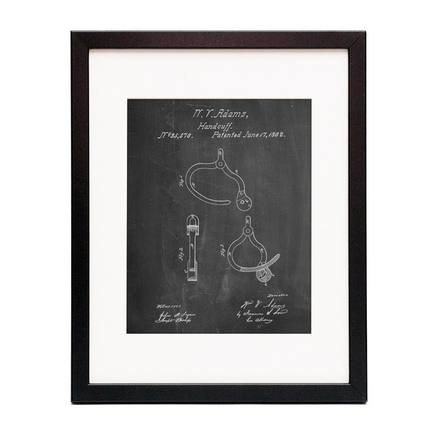 Vintage Police Handcuffs Patent Poster