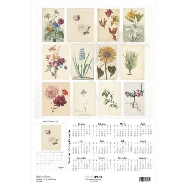 Flowers Poster Calendar, Flower Art by Retrospect Group