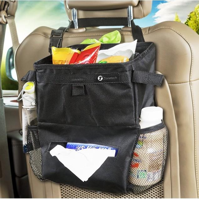 Zone Tech Car Seat Back Organizer Litter Trash Bag Storage Holder Travel