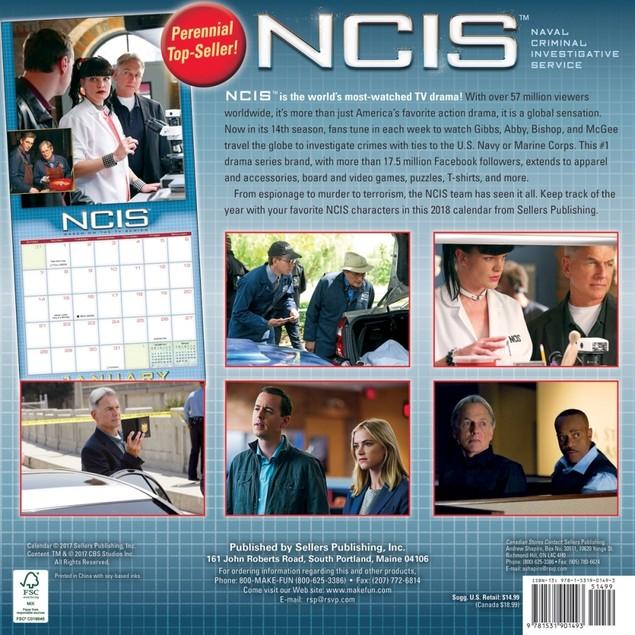 NCIS Wall Calendar, Drama TV by Calendars