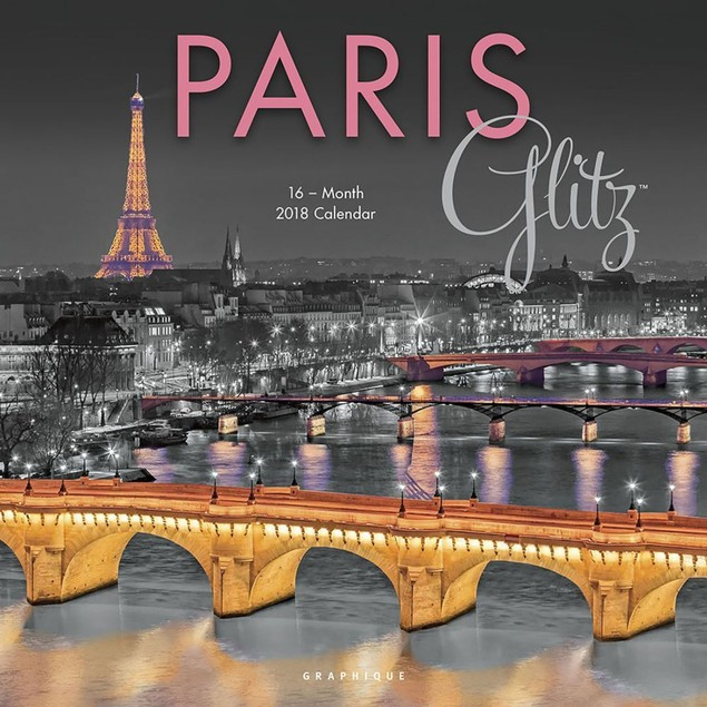 Paris Glitz Wall Calendar, France by Calendars