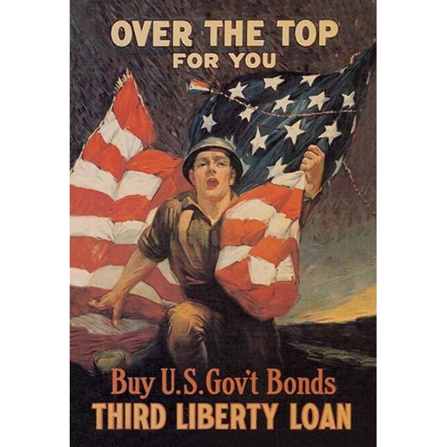 A homefront poster to raise funds for the war effort.  American Soldier Rus