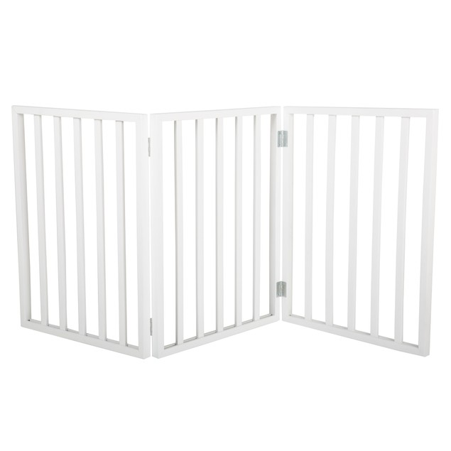PETMAKER Freestanding Wooden Pet Gate - White