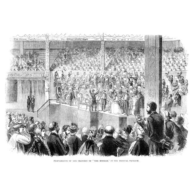 Shakespeare Pavilion, 1864. /Nperformance Of The Oratorio Of 'The Messiah,'