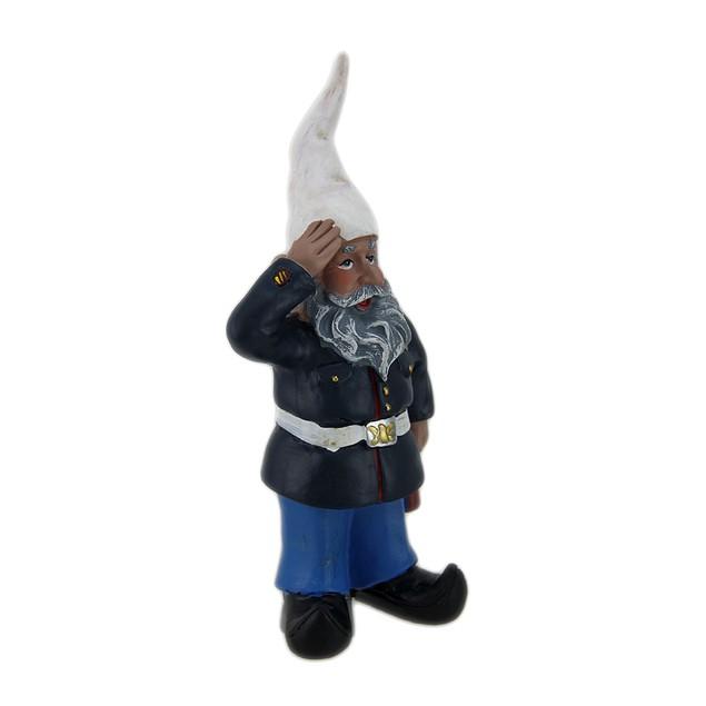 G.I. George Saluting U.S. Marine Military Gnome Outdoor Statues