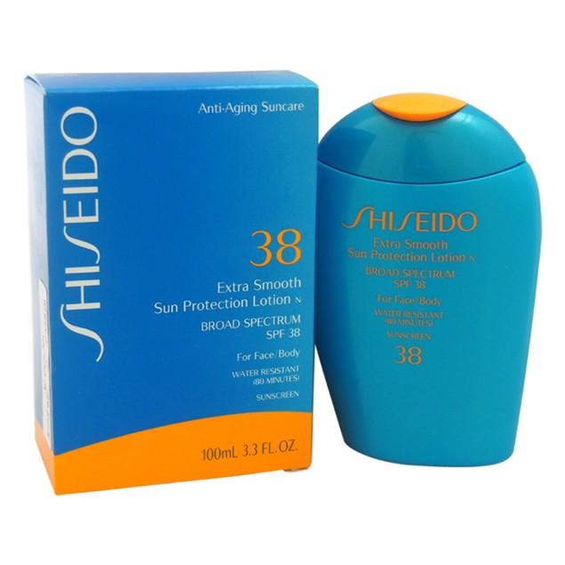 Shiseido Extra Smooth Sun Protect.LotionNBroad SpectrumSPF38Face/Body3.3oz