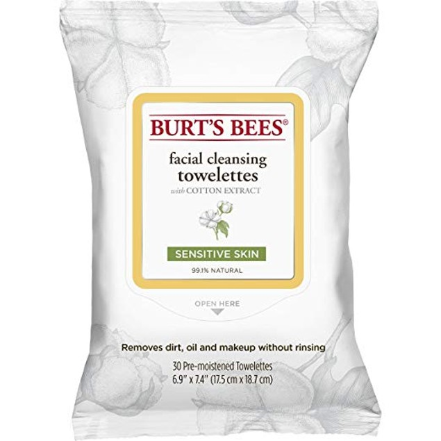 Facial Cleansing Towelettes with Cotton Extract for Sensitive Skin