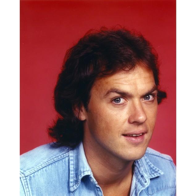 Michael Keaton Close Up Portrait wearing Blue Denim Jacket Poster