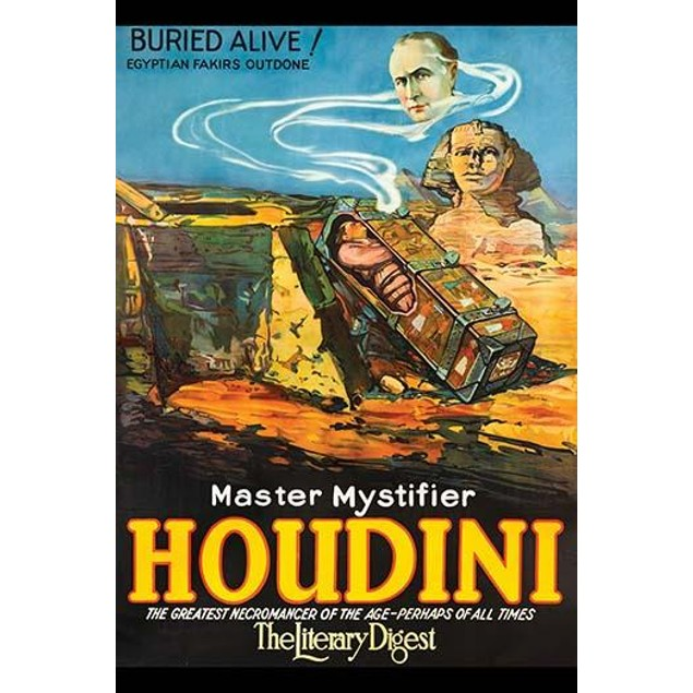 Houdini in Ancient Egypt in Coffin bear the Sphinx Poster