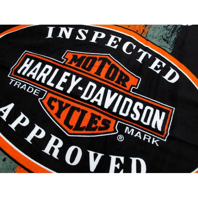 Harley-Davidson 1903 Vintage Road Sign Beach Towel Beach Towels