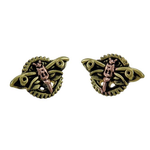 Anne Stokes Engineerium Magradores Moth Steampunk Womens Stud Earrings