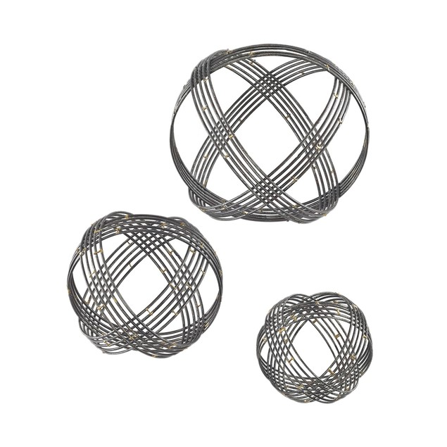 Sterling Warp Wall Decor In Soldered Raw Iron - Set Of 3