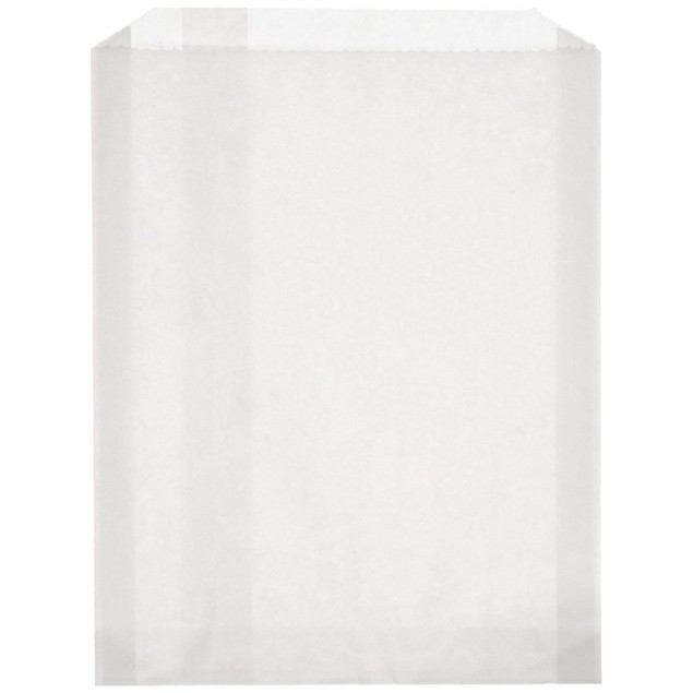 Sandwich 100 Piece Size, PB25 White Grease Resistant Paper Bag