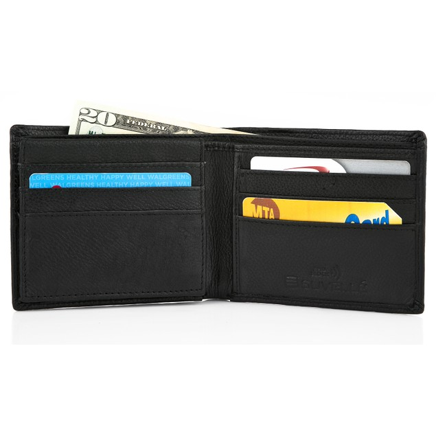 Suvelle Bifold Men's Genuine Leather RFID Wallet