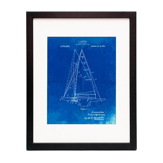 Sailboat Rigging Patent Poster