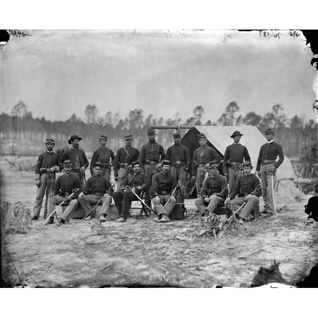 Civil War: Cavalry, 1864. /Ndetachment Of 3Rd Indiana Cavalry In Petersburg
