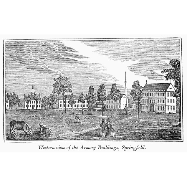 Springfield, 1839. /Nwestern View Of The Armory Buildings, Springfield, Mas