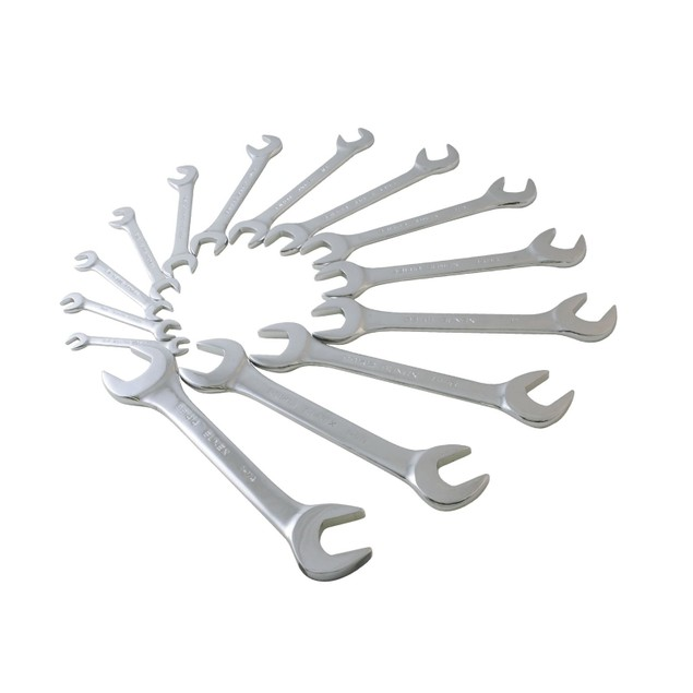 Sunex 9914 SAE Angled Wrench Set, 3/8-Inch - 1-1/4-Inch, 14-Piece