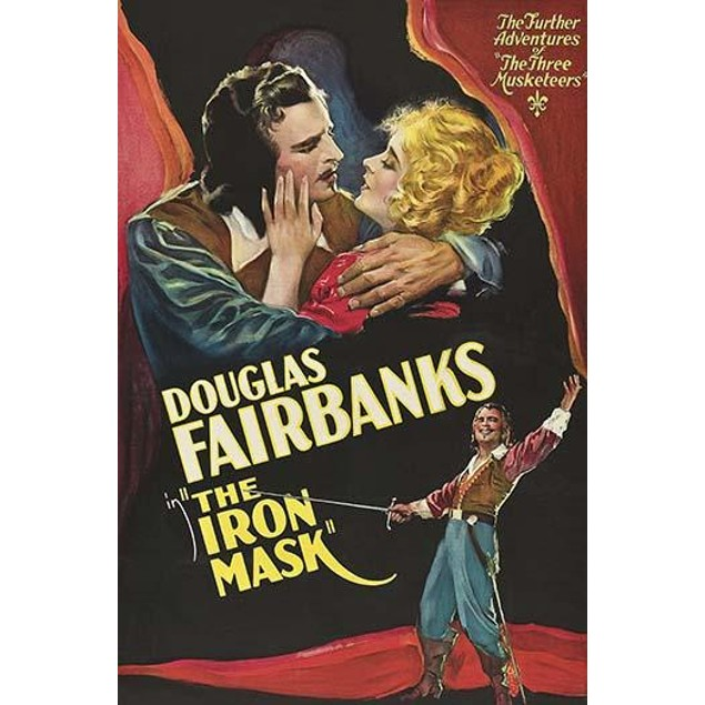 Douglas Fairbanks with a rapier as a musketeer Poster