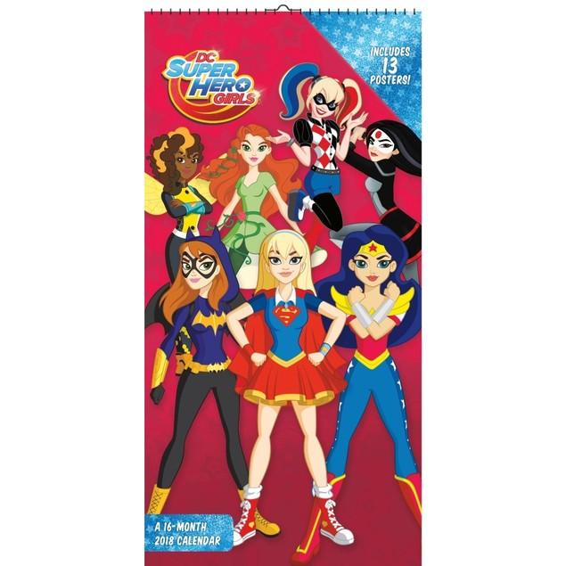 DC Superhero Girls Mini Wall Calendar