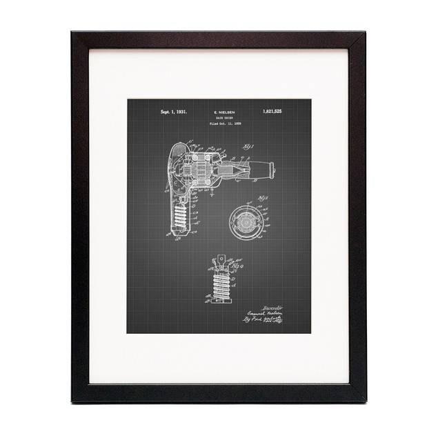 Vintage Hair Dryer Patent Poster