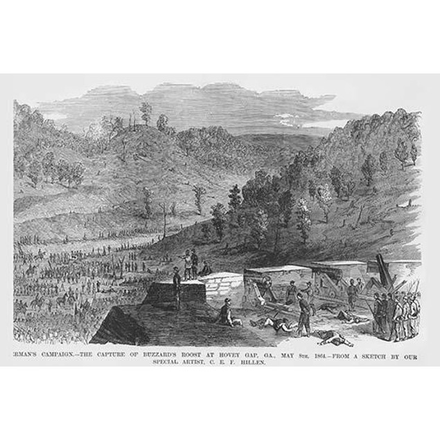 Sherman Capture of Buzzard's Roost at Hovey Gap, Georgia Poster