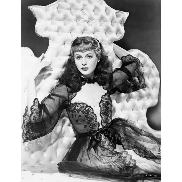 Hedy Lamarr wearing a lace nightgown Poster