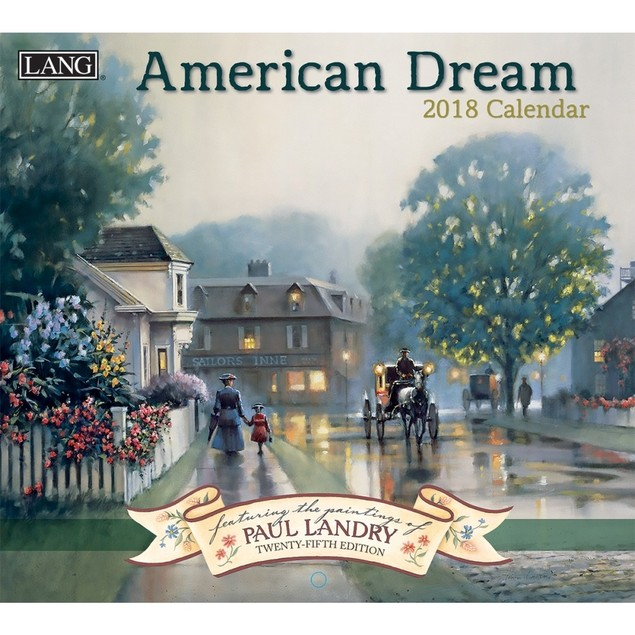 American Dream Wall Calendar, Lang Folk Art by Calendars