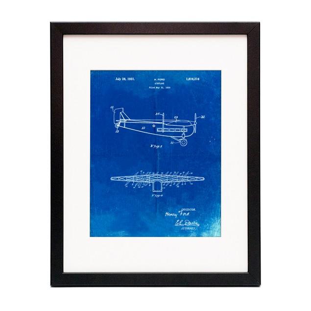 "Tri-Motor Airplane ""The Tin Goose"" Patent Poster"