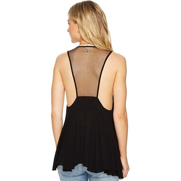 Free People Women's Black Marble Cami Black X-Small