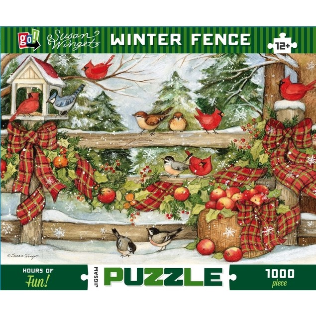 Susan Winget Winter Fence 1000 Piece Puzzle, Susan Winget by Go! Games