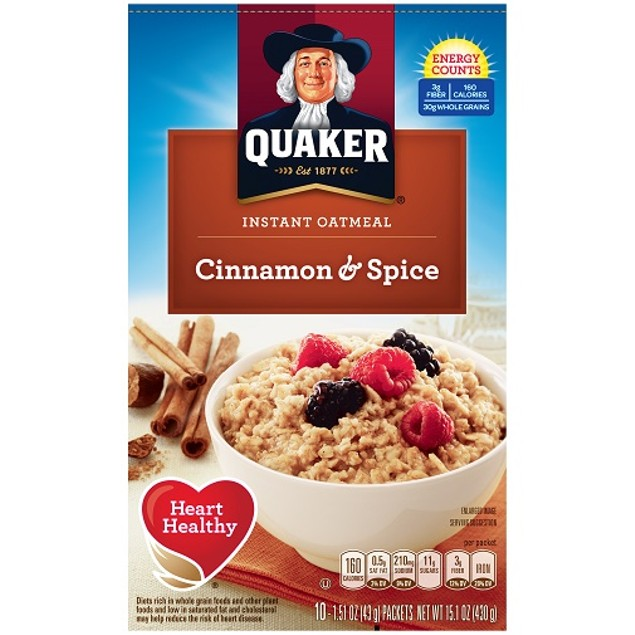 Quaker Cinnamon & Spice Instant Oatmeal Hot Cereal