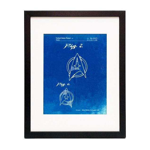 Star Trek Star Fleet Insignia Patent Poster